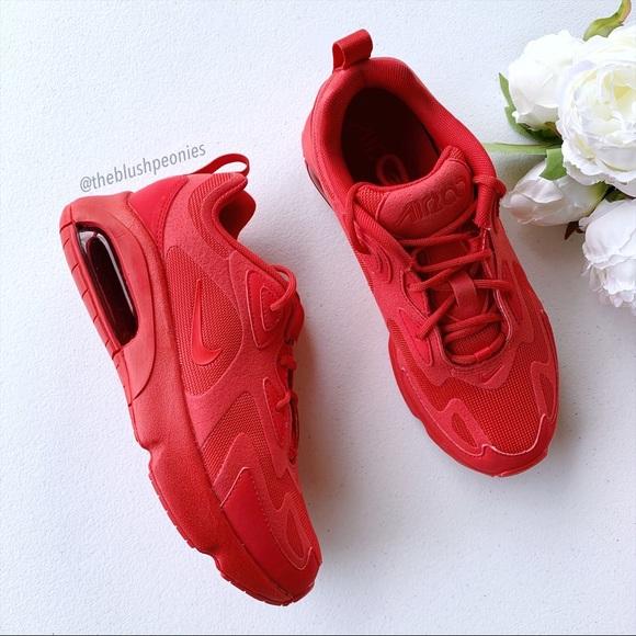 Nike Shoes | Air Max 200 Triple Red Nwt